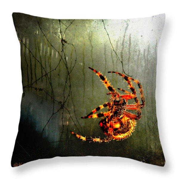 Nightmares Throw Pillow by Karen Slagle
