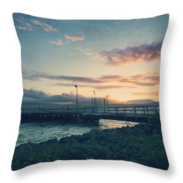 Nights Like These Throw Pillow by Laurie Search
