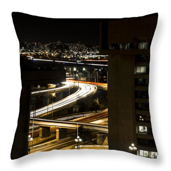 Nighttime Commute  Throw Pillow by Andrew Pacheco