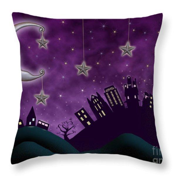Nighty Night Throw Pillow by Juli Scalzi