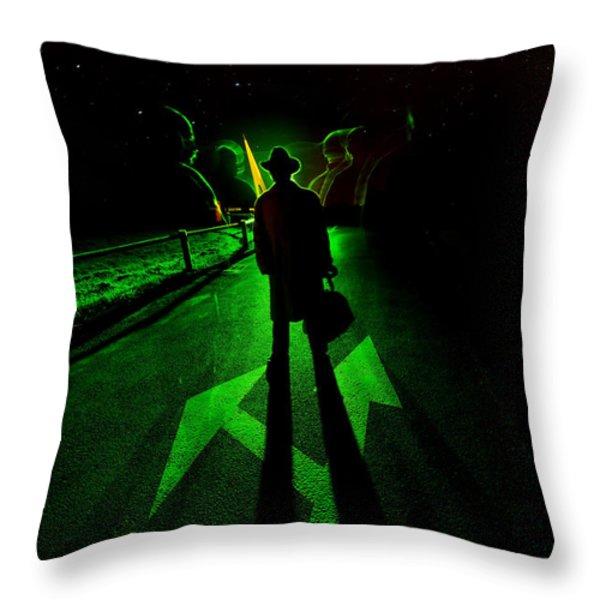 Nightwalker Throw Pillow by Jaroslaw Blaminsky