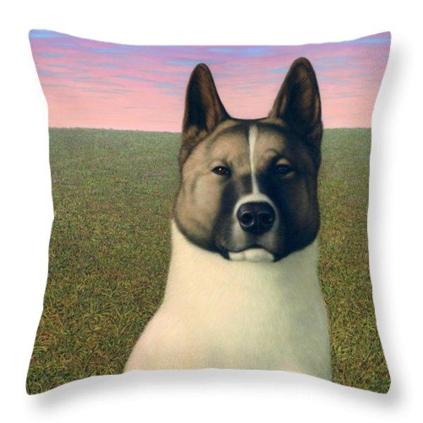 Nikita Throw Pillow by James W Johnson