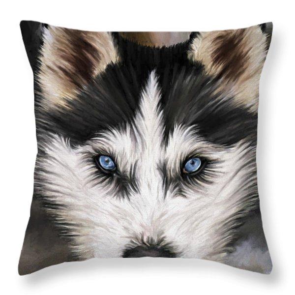 Nikki Throw Pillow by David Wagner