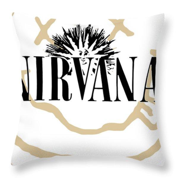 Nirvana No.06 Throw Pillow by Caio Caldas