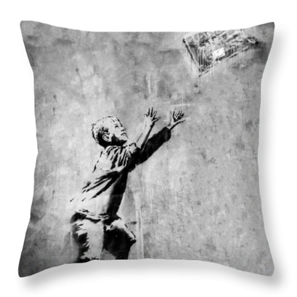 No Ball Games  Throw Pillow by A Rey