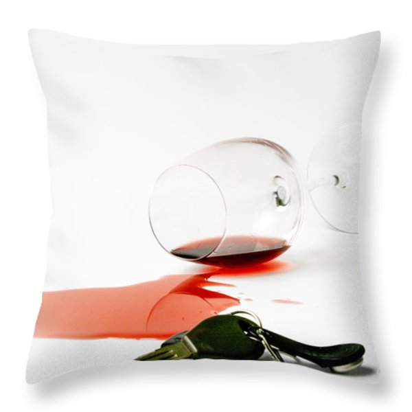 No Drunk Driving Throw Pillow by Patricia Hofmeester