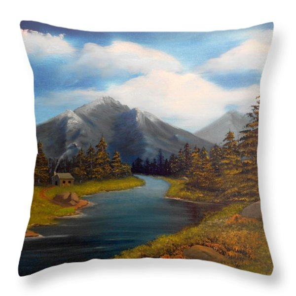 No Electronics Here Throw Pillow by Sheri Keith