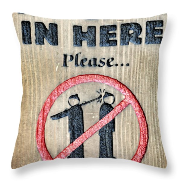 No Gear In Here Throw Pillow by Jim Nelson