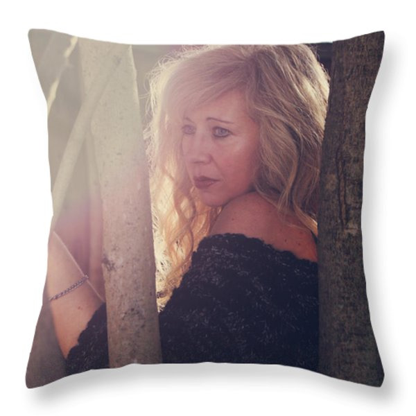 No Getting Over This Pain Throw Pillow by Laurie Search