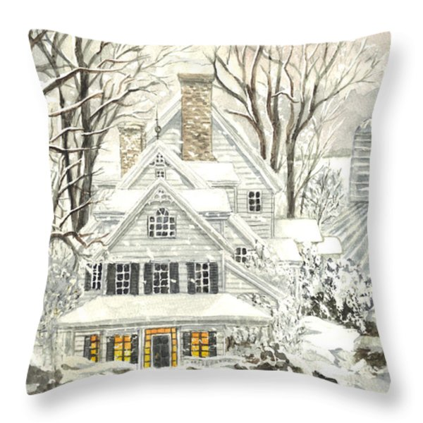 No Place Like Home For The Holidays Throw Pillow by Carol Wisniewski