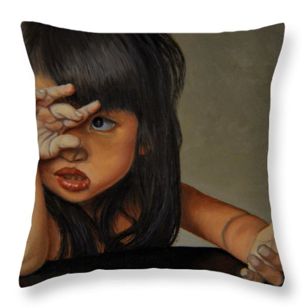 No Throw Pillow by Thu Nguyen