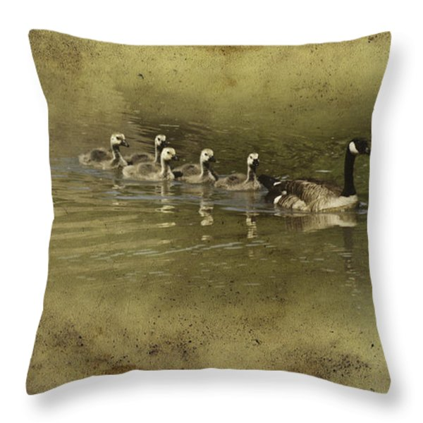 No Time for Stragglers Throw Pillow by Diane Schuster