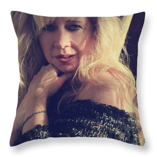 No You Don't Know Me Throw Pillow by Laurie Search