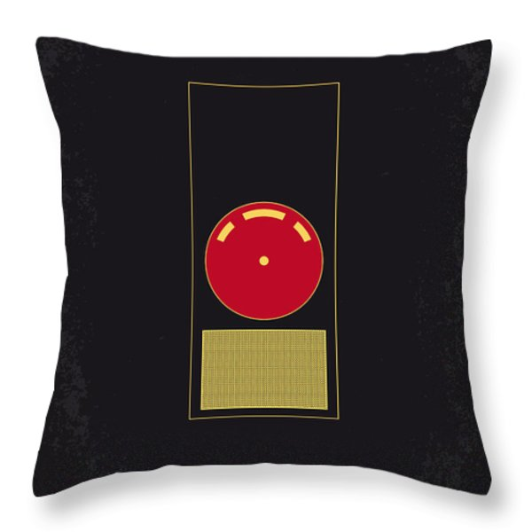 No003 My 2001 A space odyssey 2000 minimal movie poster Throw Pillow by Chungkong Art