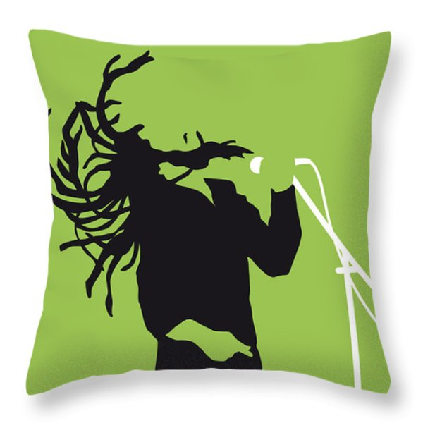 No016 My Bob Marley Minimal Music Poster Throw Pillow by Chungkong Art