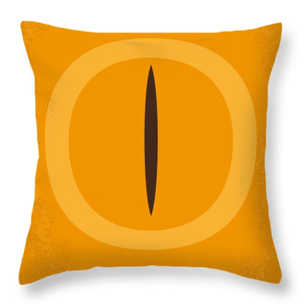 No039 My Lord of the Rings minimal movie poster Throw Pillow by Chungkong Art