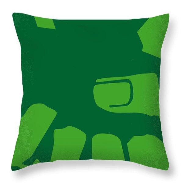 No040 My Hulk Minimal Movie Poster Throw Pillow by Chungkong Art