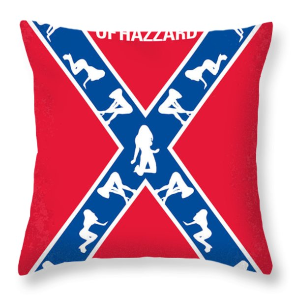 No108 My The Dukes of Hazzard movie poster Throw Pillow by Chungkong Art