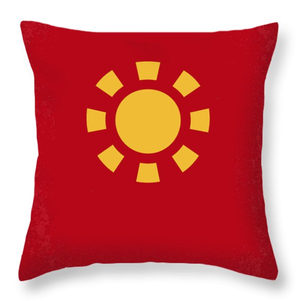 No113 My Iron man minimal movie poster Throw Pillow by Chungkong Art