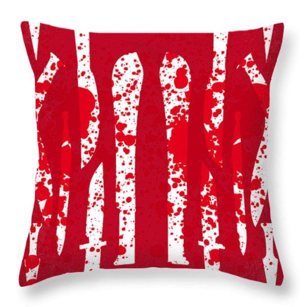 No114 My Machete minimal movie poster Throw Pillow by Chungkong Art