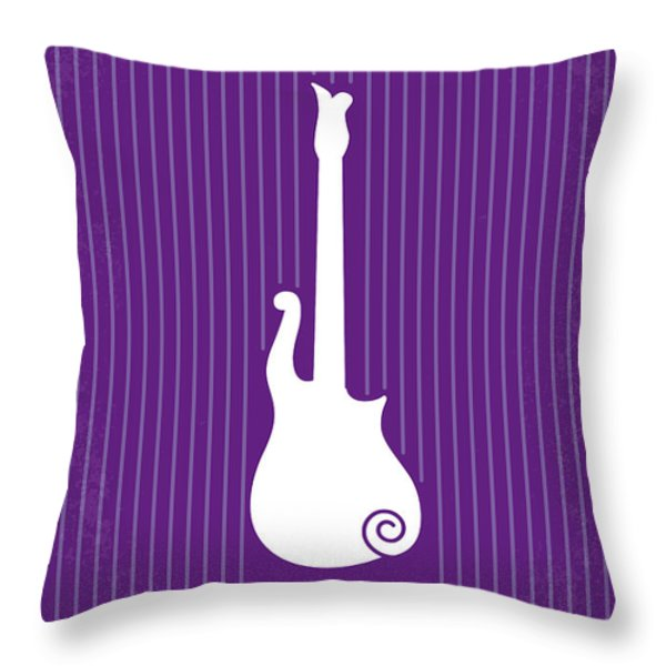No124 My Purple Rain Minimal Movie Poster Throw Pillow by Chungkong Art