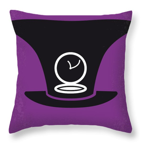 No140 My Alice in Wonderland minimal movie poster Throw Pillow by Chungkong Art