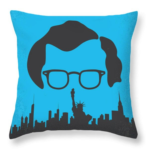 No146 My Manhattan minimal movie poster Throw Pillow by Chungkong Art