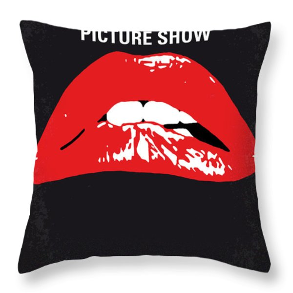 No153 My The Rocky Horror Picture Show Minimal Movie Poster Throw Pillow by Chungkong Art