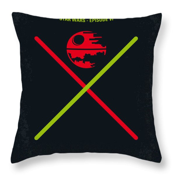 No156 My STAR WARS Episode VI Return of the Jedi minimal movie poster Throw Pillow by Chungkong Art