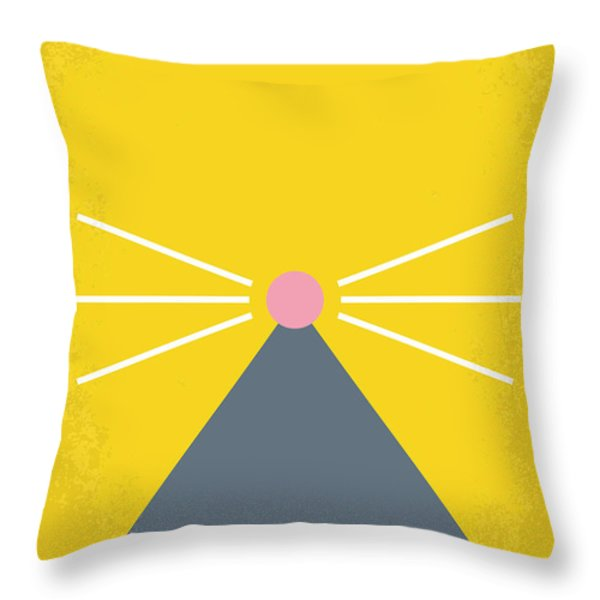 No163 My Ratatouille Minimal Movie Poster Throw Pillow by Chungkong Art