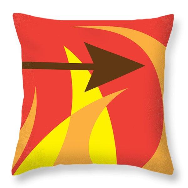No175 My Hunger Games Minimal Movie Poster Throw Pillow by Chungkong Art