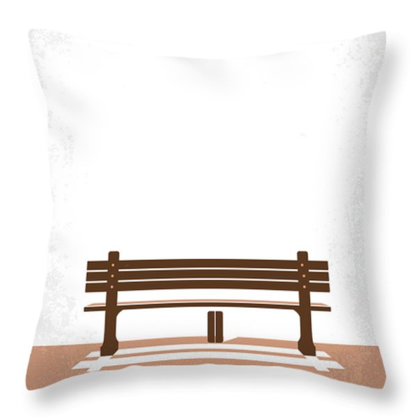 No193 My Forrest Gump Minimal Movie Poster Throw Pillow by Chungkong Art