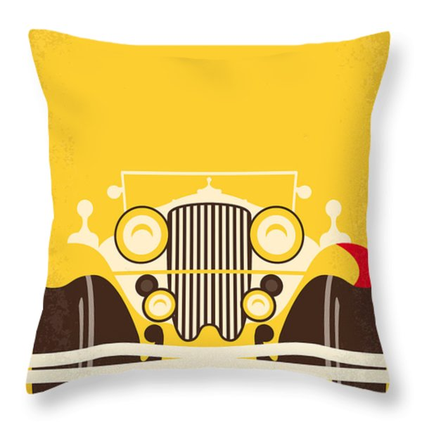 No206 My The Great Gatsby minimal movie poster Throw Pillow by Chungkong Art