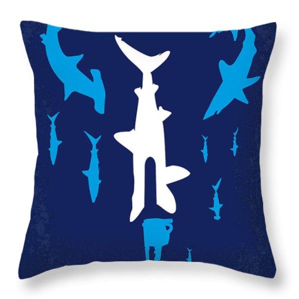 No216 My Sharknado minimal movie poster Throw Pillow by Chungkong Art