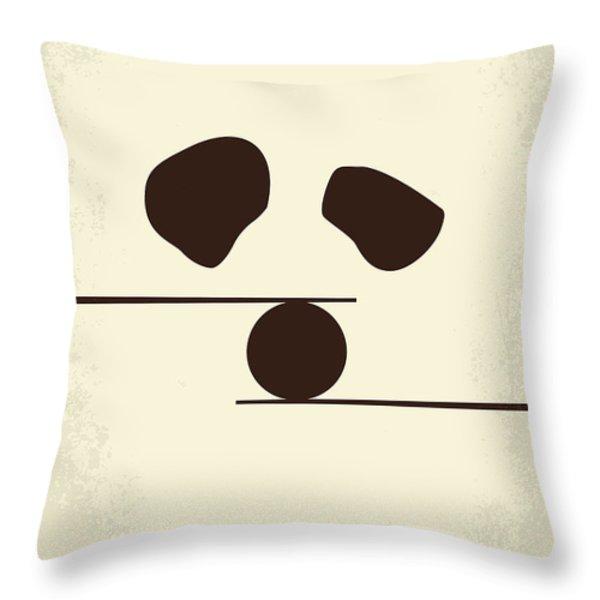 No227 My Kung Fu Panda Minimal Movie Poster Throw Pillow by Chungkong Art