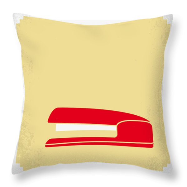No255 My Office Space Minimal Movie Poster Throw Pillow by Chungkong Art
