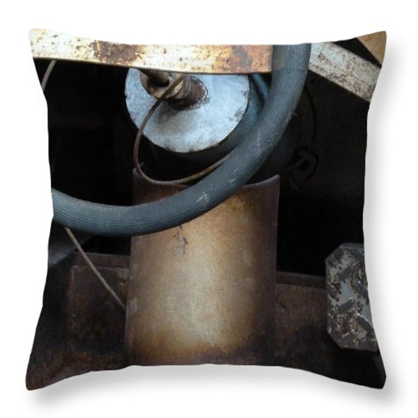 Nobody At The Controls Throw Pillow by Newel Hunter