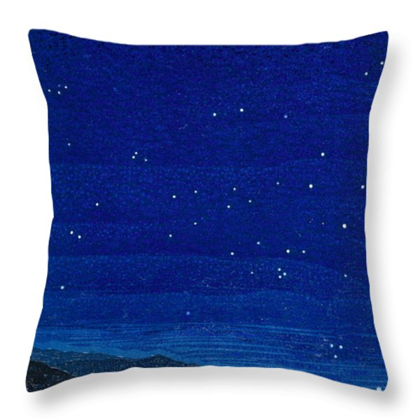 Nocturnal Landscape Throw Pillow by Francois-Louis Schmied
