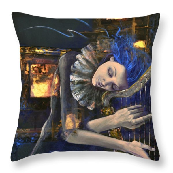Nocturne Throw Pillow by Dorina  Costras