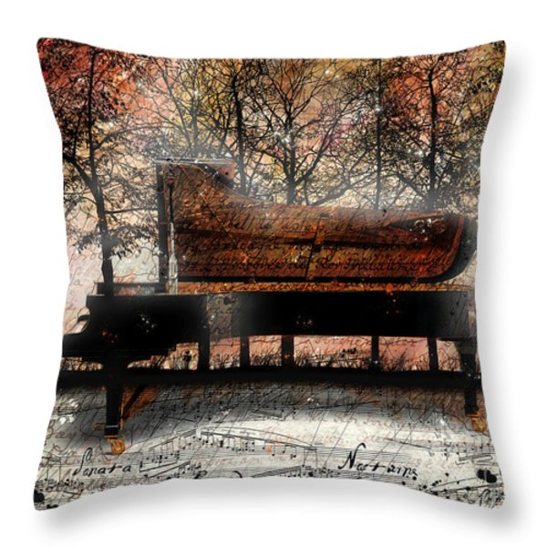 Nocturne II Throw Pillow by Gary Bodnar