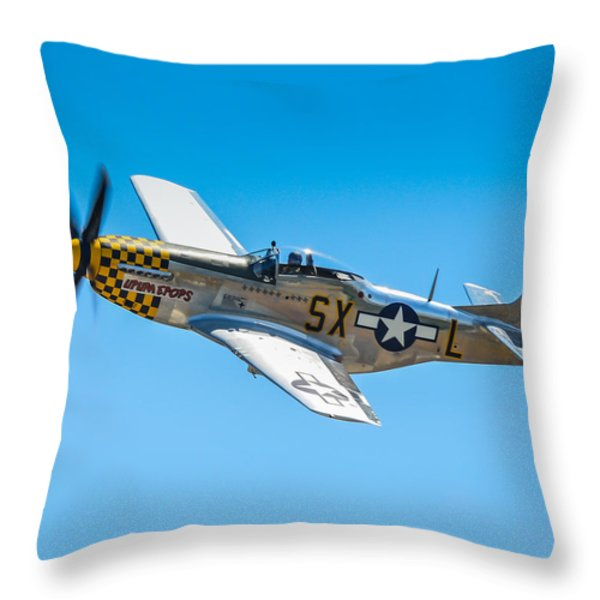 North American P-51d Mustang  Throw Pillow by Puget  Exposure