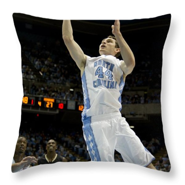 North Carolina Basketball Throw Pillow by Mountain Dreams