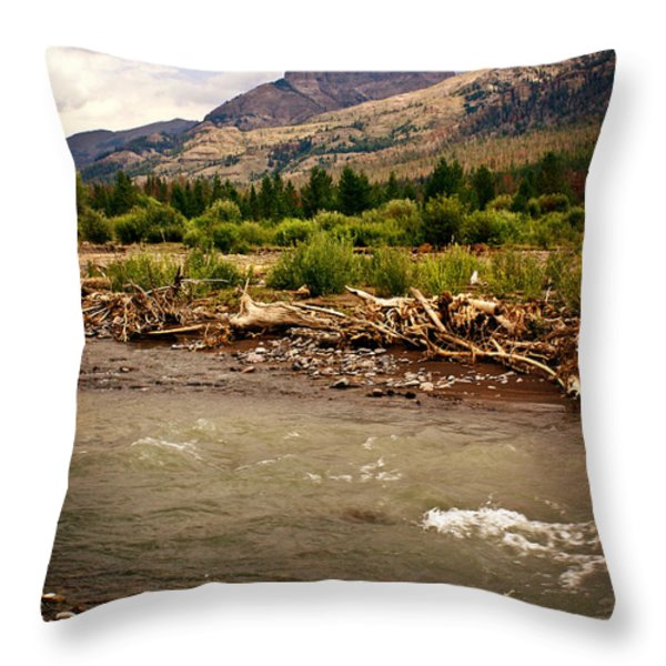 North of Dubois 2 Throw Pillow by Marty Koch