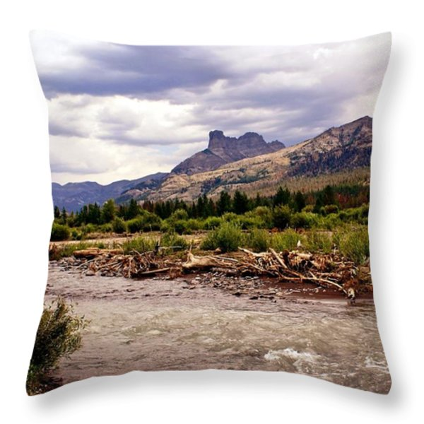 North of Dubois 3 Throw Pillow by Marty Koch