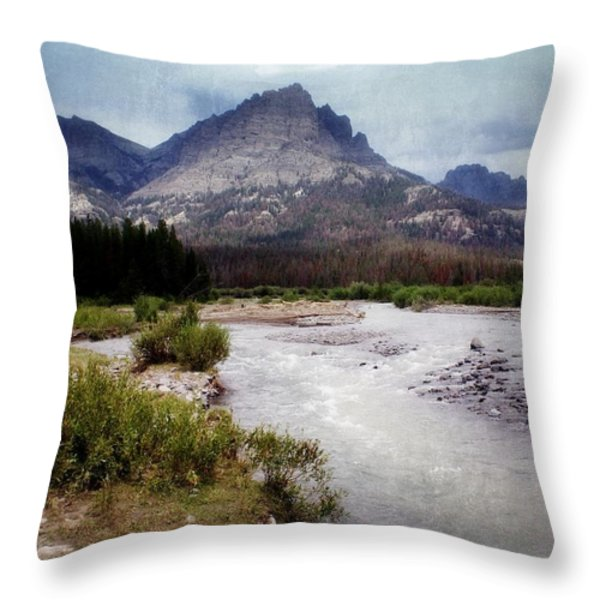 North Of Dubois Throw Pillow by Marty Koch