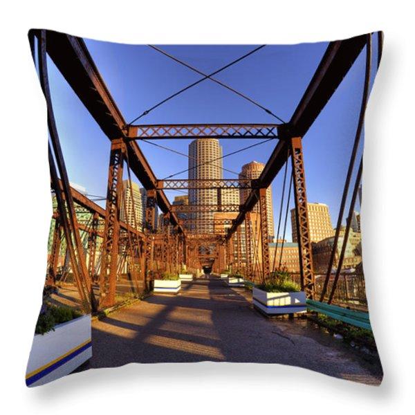 Northern Avenue Bridge Throw Pillow by Joann Vitali