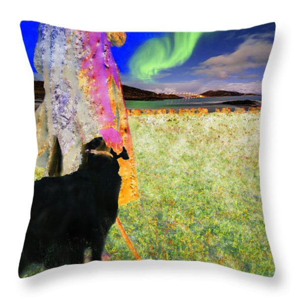 Northern Lights Throw Pillow by Chuck Staley