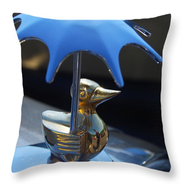 Northwest Roadster Hood Ornament Throw Pillow by Jani Freimann
