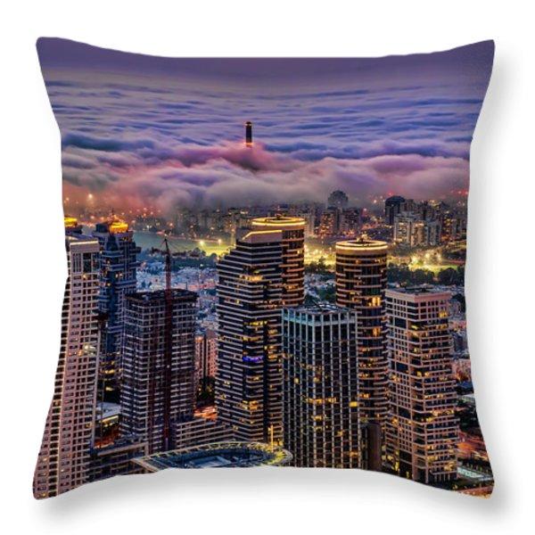Not Hong Kong Throw Pillow by Ron Shoshani