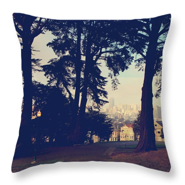 Not So Far  Throw Pillow by Laurie Search